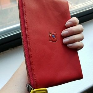 Coach Red Leather Wallet, NEW